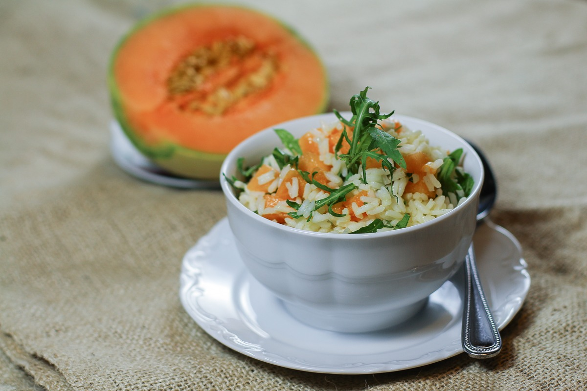 Riso Olio e Cantalupo: un piatto semplice, fresco e sano per fronteggiare la calda stagione estiva!